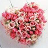 Серце із троянд на 14 лютого