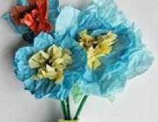 Квіти з серветок своїми руками, інструкції, схеми, фото
