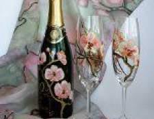 Декупаж пляшок шампанського