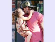 Девід Бекхем і його дочка харпер