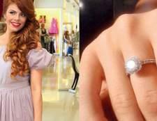 Чоловік Анастасії Стоцької подарував їй каблучку з діамантом