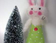 Новорічна саморобка кролик