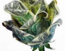 Орігамі з грошей: троянда