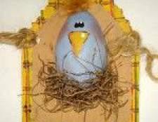 Великодні листівки: курча в гнізді