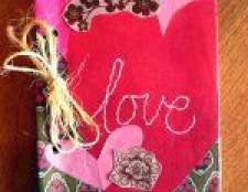 Подарунки на день валентина. Блокнот ручної роботи