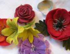 Валяння квітів з вовни